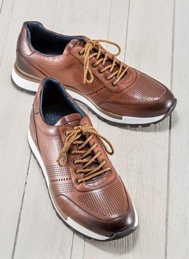 Elle Bağcıklı Spor Ayakkabı Taba